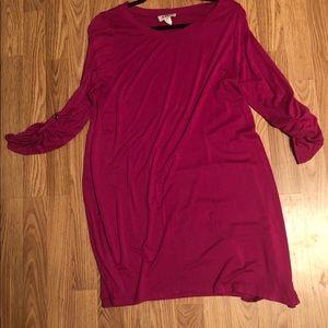 Raspberry Stretchy Soft Tunic Dress Large